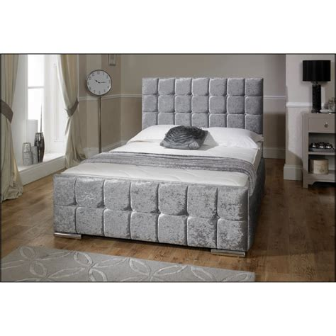 nevada crushed velvet bed from ms furnishings uk