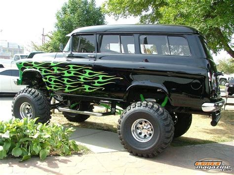 1957 Chevy Suburban By tri five chevy suburban on a lifted 4x4 frame 1955 1956