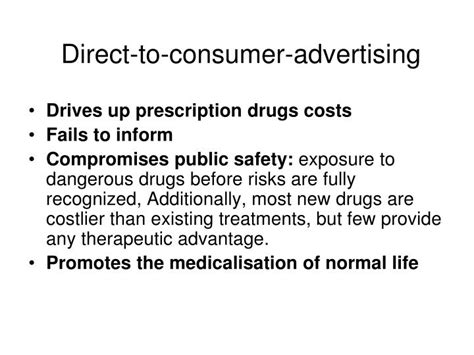 direct to consumer pharmaceutical advertising ppt universal pharmacare solving canada s drug problem