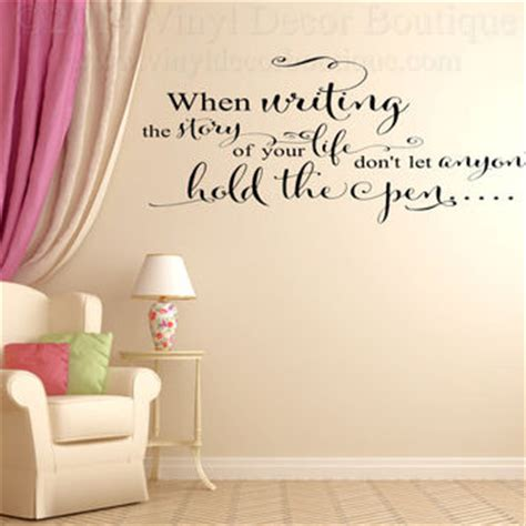 writing on wall decor writing story of wall wall decal from vinyl decor