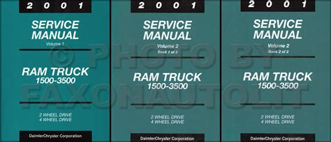 automotive service manuals 2001 dodge ram 1500 security system 2001 dodge ram truck repair shop manual factory reprint set gas diesel pickup