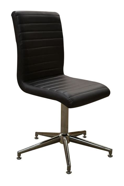 modern swivel dining chairs buy ripple modern faux leather swivel dining chair from