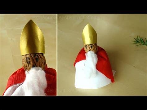 nikolaus basteln weihnachtsmann basteln mit papier im