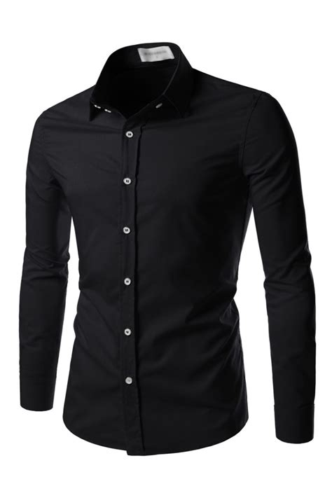 Black Dress Shirt Button Collar by Mens Black Button Collar Shirt Is Shirt