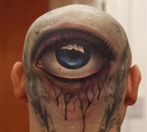 eyeball tattoo on back of head tattoos of eyes for those who think they ve seen