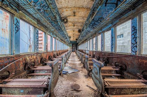 abandoned places in indiana abandoned passenger train in the indiana countryside
