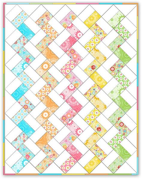rainbow zig zag quilt pattern rainbow colors or otherwise this zig zag quilt would be