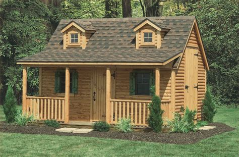 cottage cabin playhouse north country sheds