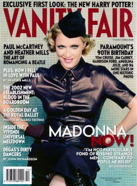 Madonna In Vanity Fair by Evolution Of Madonna Magazine Covers 1983 2011 Barnorama