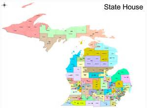 michigan state house of representatives district map