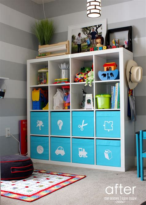 Blue And Brown Home Decor by Toy Storage In An Ikea Expedit The Homes I Have Made