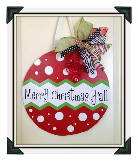 quot merry christmas y all quot door hanger holiday christmas