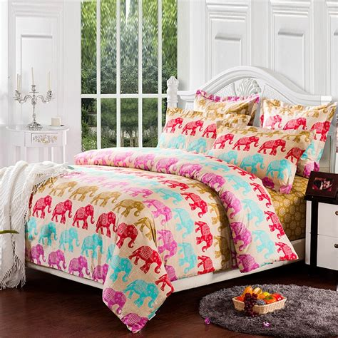 elephant bedding queen colorful indian good luck elephant print jungle safari