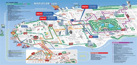 map of attractions maps update 58022775 new york tourist maps maps of new