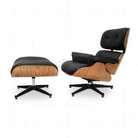 black chair and ottoman eames lounge chair and ottoman black with oak wood 163 802 73