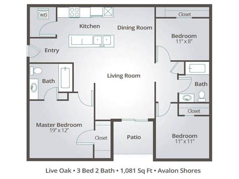 3 bedroom 3 bathroom apartments apartment floor plans pricing avalon shores bluffton sc