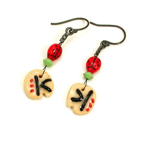 retro bug earring kitsch bug jewelry glass bug