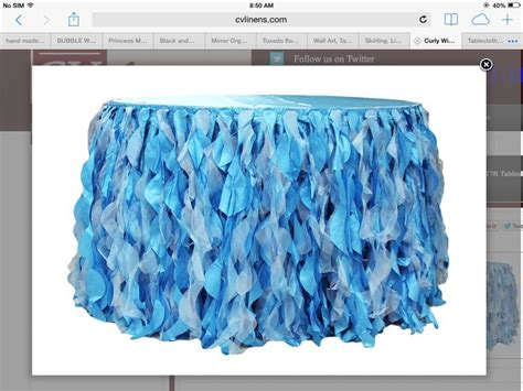 diy tutu table skirt amnb 1st birthday party pinterest