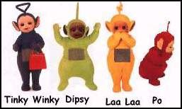 teletubbies names and colors cricket for america