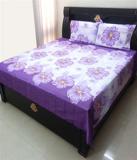 floral bed sheets kaksh cotton floral double bed sheets buy kaksh cotton