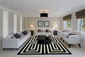 Black And White Modern Rugs Black And White Living Room Design And Ideas Inspirationseek
