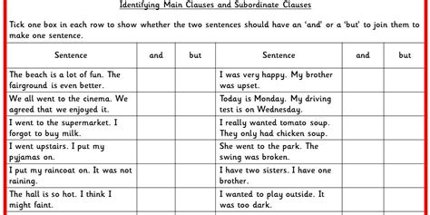 Identifying Clauses Worksheet by Identifying Clauses And Subordinate Clauses Ks2 Spag