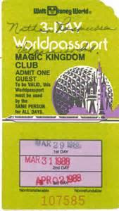 World Ticket Vintage Walt Disney World What S Your Ticket 171 Disney