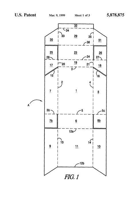 patent us5878875 cigarette box incorporating a match