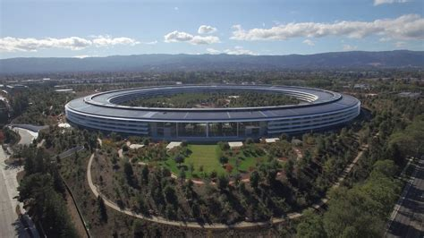 apple park drone footage shows off nearly completed apple park