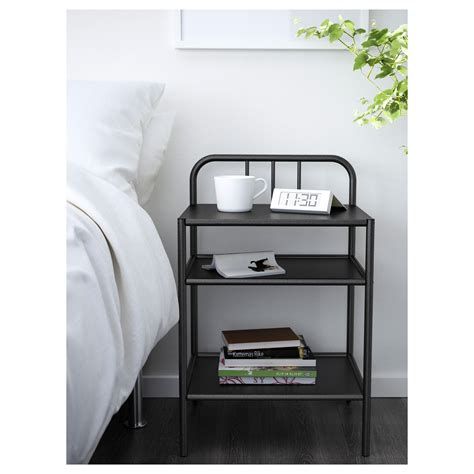 Bedside Tables Ikea by Fyresdal Bedside Table Black 45x38 Cm Ikea