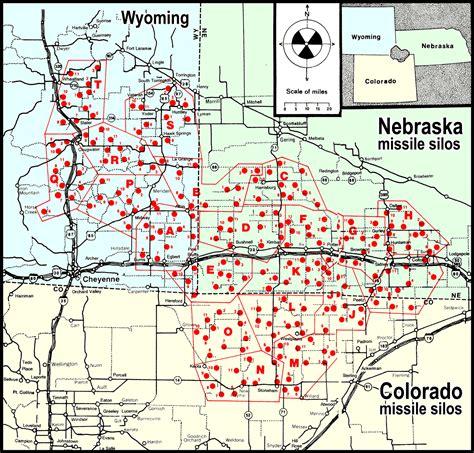 map us missile silos colorado s nuclear missile silos maps