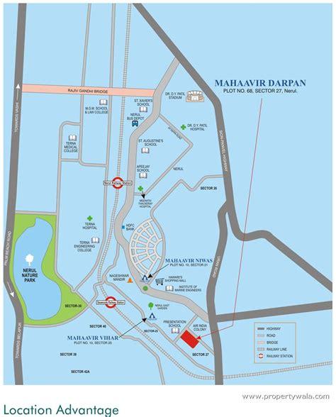 3bhk House Plans mahaavir darpan nerul navi mumbai apartment flat