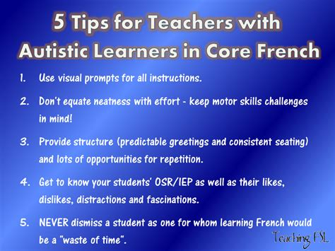 7 Tips On Working With Autistic by Teaching Fsl Autism Teaching Resources Hop