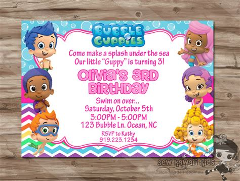 guppies invitations templates guppies birthday invitation guppies birthday