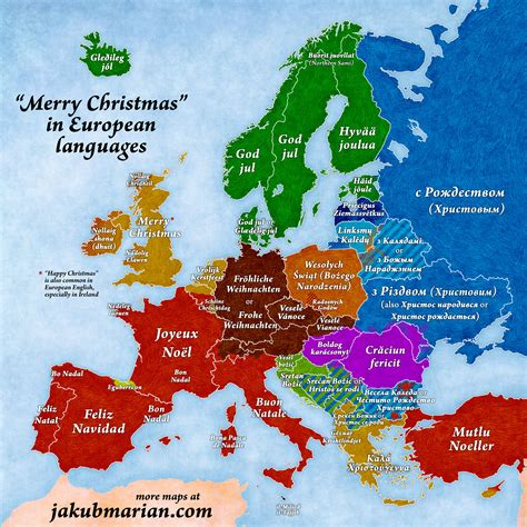 merry christmas  european languages
