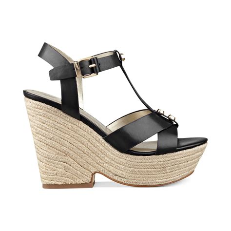 marc fisher malek tstrap platform wedge sandals in black