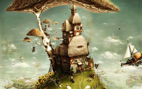 surrealism the worlds greatest 1844512673 casa del 225 rbol arte de la fantas 237 a fondos de pantalla 1920x1200 fondos de descarga