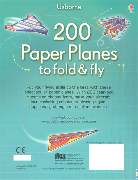 Fold And Fly Paper Planes Book - 200 paper planes to fold fly 020821 details rainbow