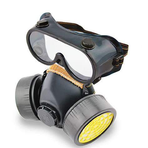 Masker Safety industrial gas filter chemical anti dust paint respirator mask glasses goggles set