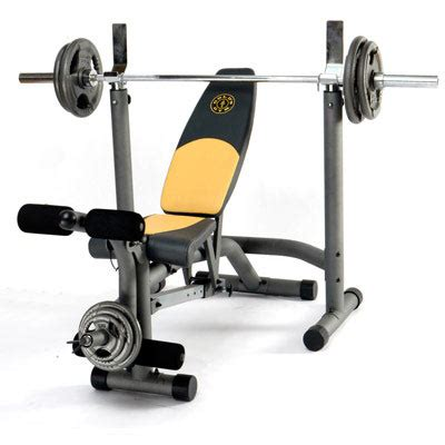 gold s gym pro series weight bench workout bench