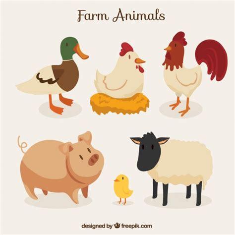 imagenes animales de granja colecci 243 n de animales de granja descargar vectores gratis