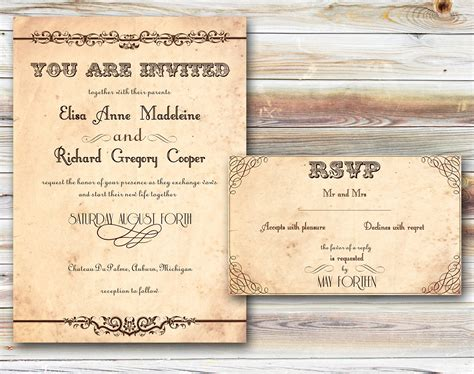 rustic photo wedding invitations 5 best images of rustic wedding invitations printables