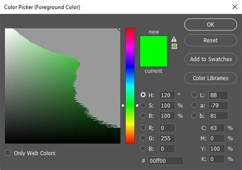 photoshop color picker color photoshop colour picker with only colours within