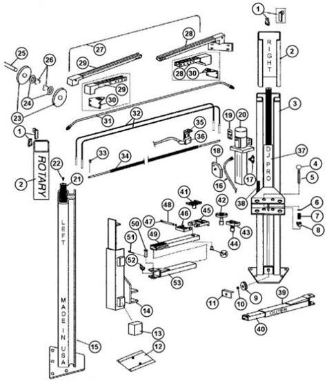 rotary floor jacks parts breakdown for rotary model spoa7 svi international