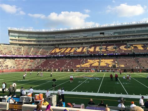 bank sections tcf bank stadium section 110 rateyourseats com