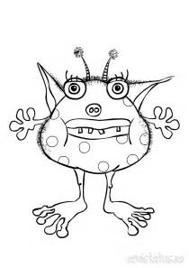 monsters colouring pages