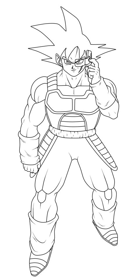 Dragon Ball Z Coloring Pages Bardock | bardock by dragonlucky86 on deviantart