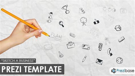 Sketch A Business Prezi Template Prezibase Prezi Pitch Templates