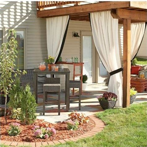 outdoor patio curtains for the home
