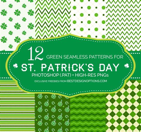 pattern st in photoshop green background patterns for creating st patrick s day